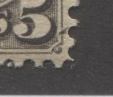 "Canada #42 5c Deep Brownish Grey Small Queen Perf 12.25 Second Ottawa Printing Fine Mint OG With Unlisted ""Feather"" Flaw in the Lower Right Corner Brixton Chrome"
