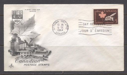 Canada #432 (SG#558) 1964 Quebec Conference Issue Art Craft First Day Cover VF-84 Brixton Chrome