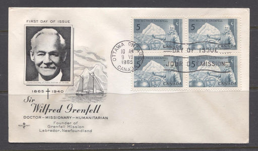 Canada #438 (SG#563) 1965 5c Wilfred Grenfell Issue Rose Craft First Day Cover XF-87 Brixton Chrome