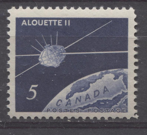 Canada #445 (SG#570) 5c Dark Violet Blue 1966 Alouette II Issue DF Paper VF 75/80 NH Brixton Chrome
