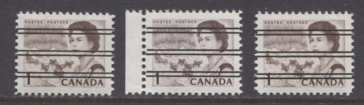 Canada #454xx (SG#579) 1c Violet Brown Centennial DF-fl Paper Smooth Dextrine Gum Precancel VF-84 NH Brixton Chrome