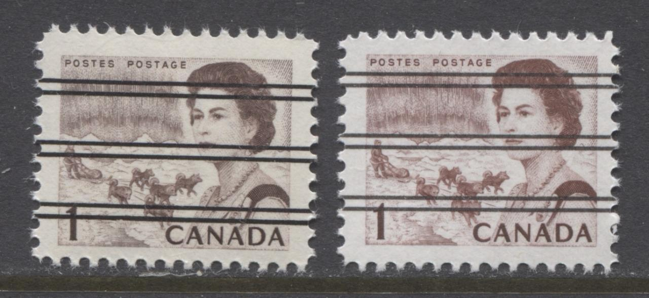 Canada #454xx/i (SG#579) 1c Brown and Deep Red Brown Centennial Precancel - Dextrine Gum & PVA Gum VF-80 NH Brixton Chrome