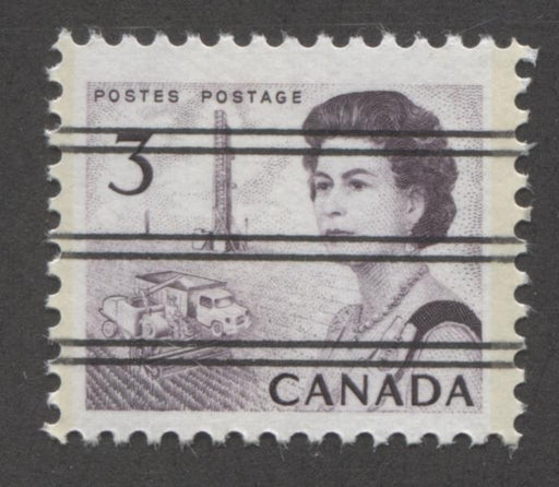 Canada #456pxx (SG#581q) 3c Deep Reddish Purple Centennial Light GT-2 Precancel PVA Gum VF-75 NH Brixton Chrome