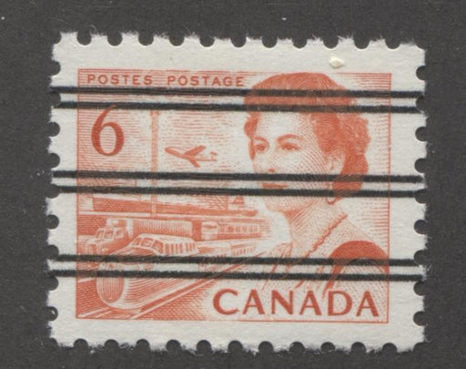 Canada #459xx (SG#601) 6c Deep Red Orange Centennial Precancel DF Gr Paper VF-80 NH Brixton Chrome
