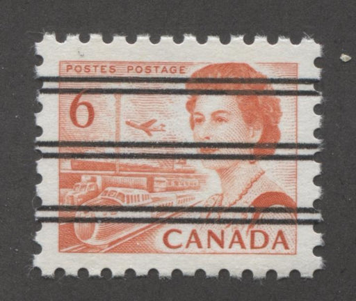 Canada #459xx (SG#601) 6c Deep Red Orange Centennial Precancel DF Gr Paper VF-84 NH Brixton Chrome