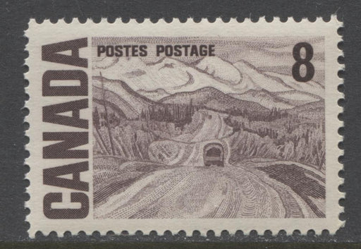 Canada #461 (SG#584) 8c Deep Brown Purple 1967-73 Centennial DF-fl Gr Paper Streaky Gum VF-84 NH Brixton Chrome