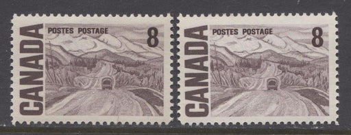 Canada #461 (SG#584) 8c Deep Brown Purple 1967-73 Centennial DF Gr Paper Streaky Gum VF-84 NH Brixton Chrome