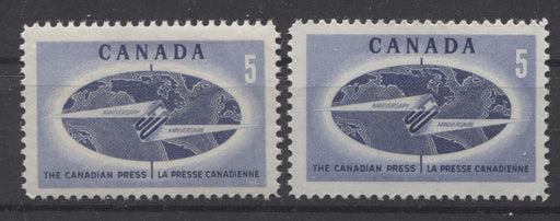 Canada #473i (SG#615) 5c 1967 Canadian Press Issue LF-fl Paper, 2 Different Gums VF-75 NH Brixton Chrome