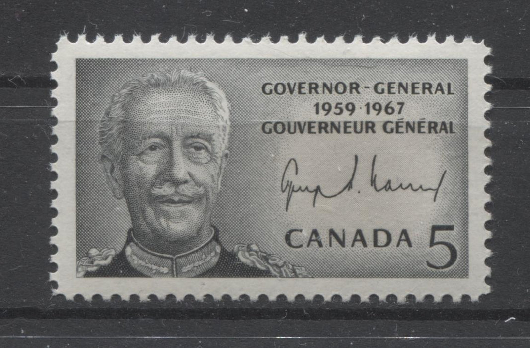 Canada #474i (SG#616) 5c Black 1967 Vanier Issue On DF-fl GW, LF-HB VF Paper, Smooth Gum VF-80 NH Brixton Chrome