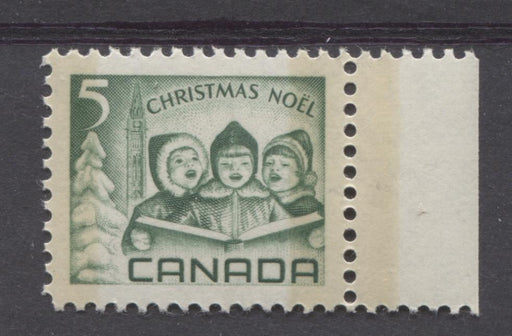 Canada #477p (SG#619p) 5c Green Children Carolling 1967 Christmas Issue DF-fl, MF, S Paper VF 84 NH Brixton Chrome