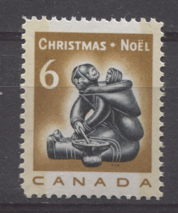Canada #489 (SG#631) 6c Deep Bistre And Black 1968 Mother And Infant HF Paper VF 75/80 NH Brixton Chrome