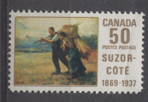 Canada #492 (SG#634) 50c Multicoloured 1969 Suzor-Cote Issue HF Paper VF 75/80 NH Brixton Chrome