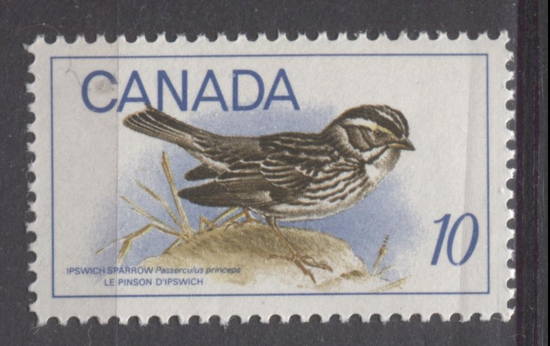 Canada #497 (SG#639) 1969 10c Multicolored Ipswich Sparrow HB Paper VF 75/80 NH Brixton Chrome