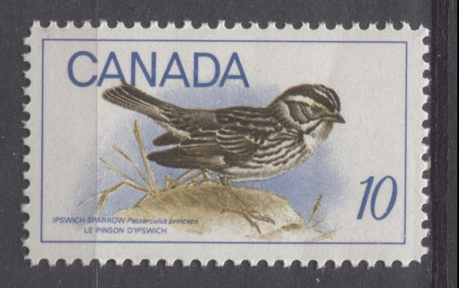 Canada #497 (SG#639) 1969 10c Multicolored Ipswich Sparrow On HB Paper F-70 NH Brixton Chrome