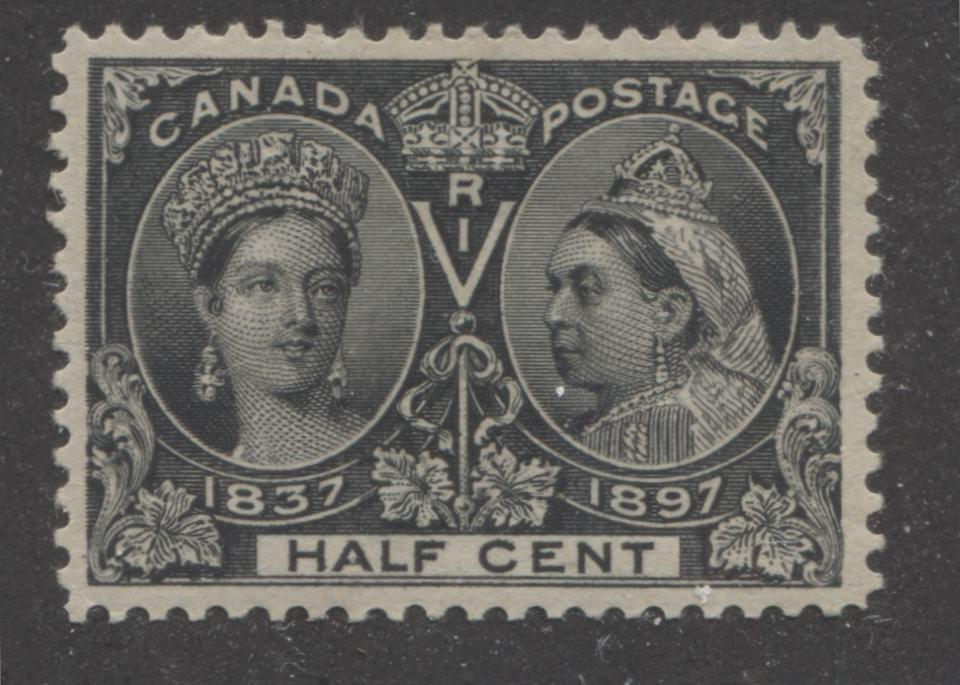 Canada #50 (SG#121) Half Cent Black 1897 Diamond Jubilee Issue VF-80 LH Brixton Chrome