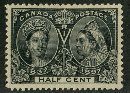 Canada #50 (SG#121) Half Cent Black 1897 Diamond Jubilee Issue VF-80 OG Brixton Chrome