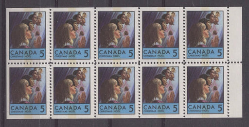 Canada #502qi (SG#644pa) 5c Multicolored 1969 Christmas Issue Booklet Pane MF Paper F-70 NH Brixton Chrome