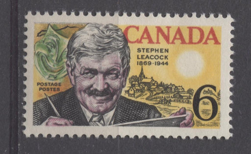 Canada #504 (SG#646) 6c Multicolored 1969 Stephen Leacock Issue DF Paper VF 75/80 NH DF Brixton Chrome