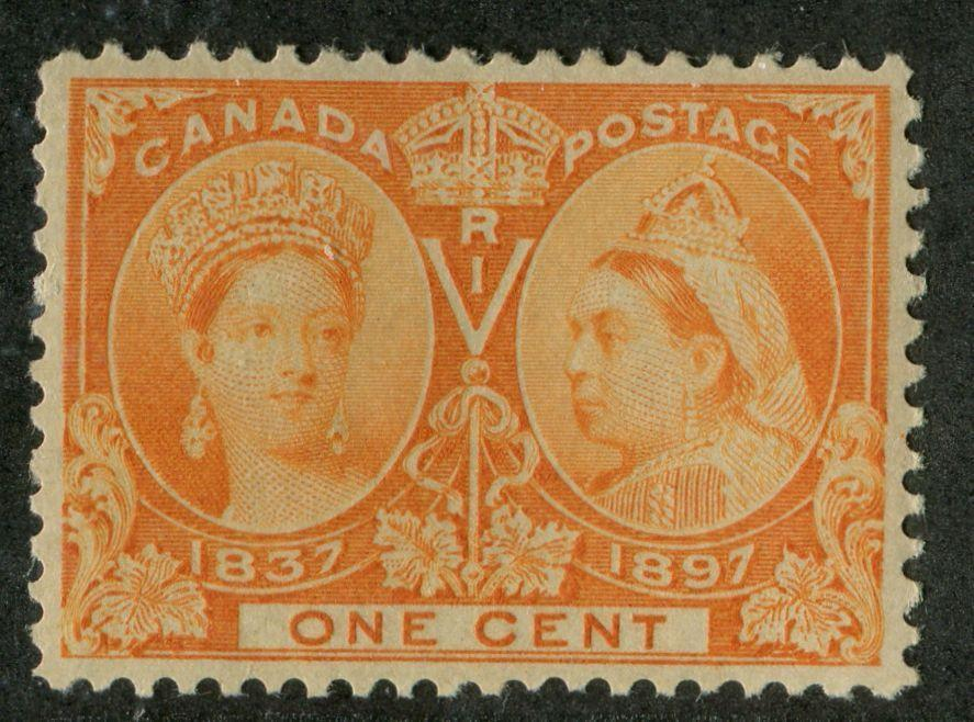 Canada #51 (SG#122) 1c Dull Orange 1897 Diamond Jubilee Issue VF-84 OG Brixton Chrome