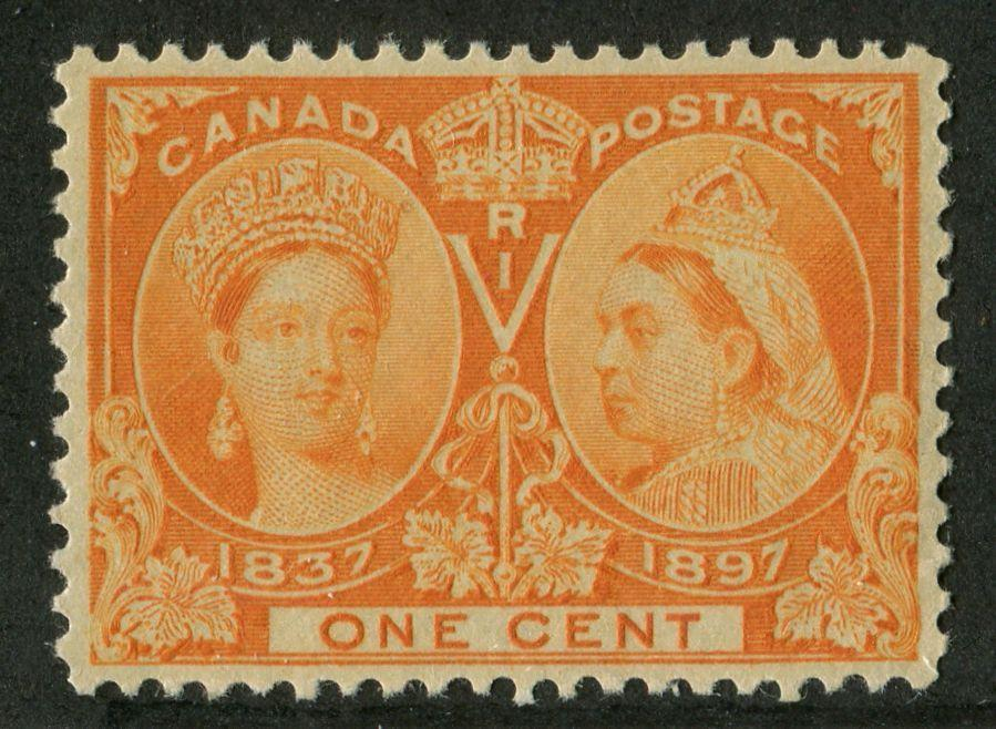 Canada #51 (SG#122) 1c Dull Orange 1897 Diamond Jubilee Issue XF-94 NH Brixton Chrome
