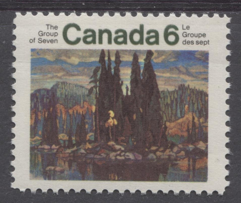 Canada #518 (SG#660) 6c Multicolored 1970 Group Of Seven Issue HF Paper Double Inscription VF 75/80 NH Brixton Chrome