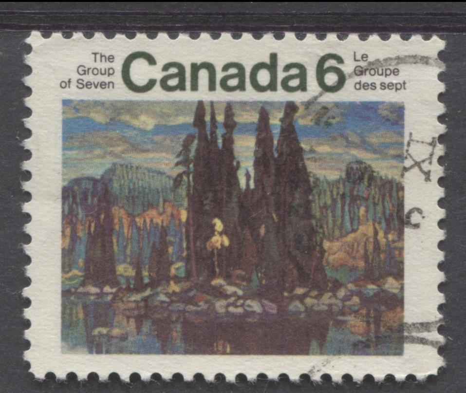 Canada #518 (SG#660) 6c Multicolored 1970 Group Of Seven Issue HF Paper VF 75/80 Used Brixton Chrome