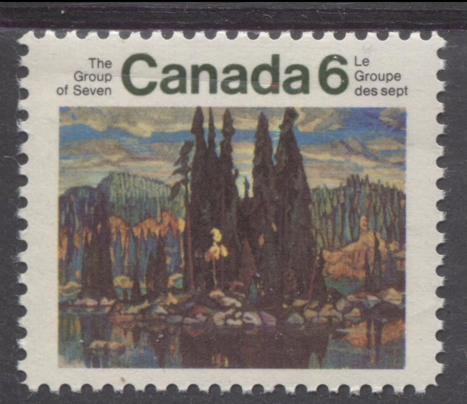 Canada #518 (SG#660) 6c Multicolored 1970 Group Of Seven Issue HF Paper VF 84 NH Brixton Chrome