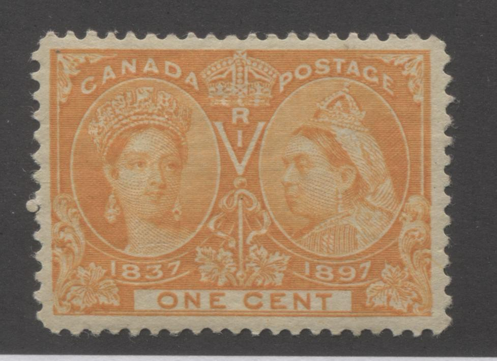 Canada #51i 1c Yellow Orange Queen Victoria, 1897 Diamond Jubilee Issue A Very Fine NH Example Brixton Chrome