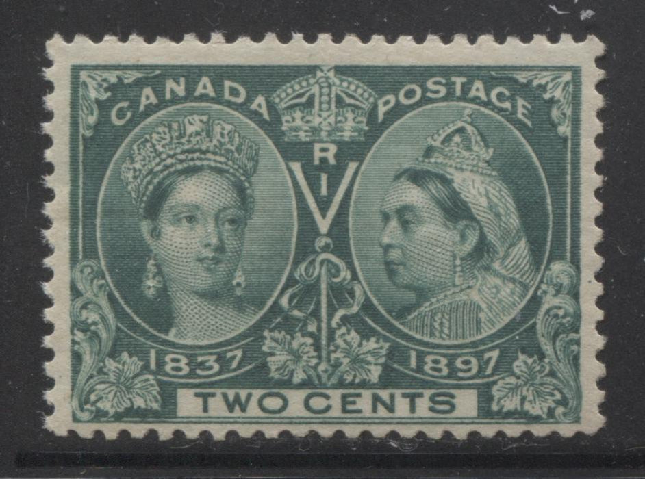 Canada #52 2c Green Queen Victoria, 1897 Diamond Jubilee Issue, Fine Mint NH Example Brixton Chrome
