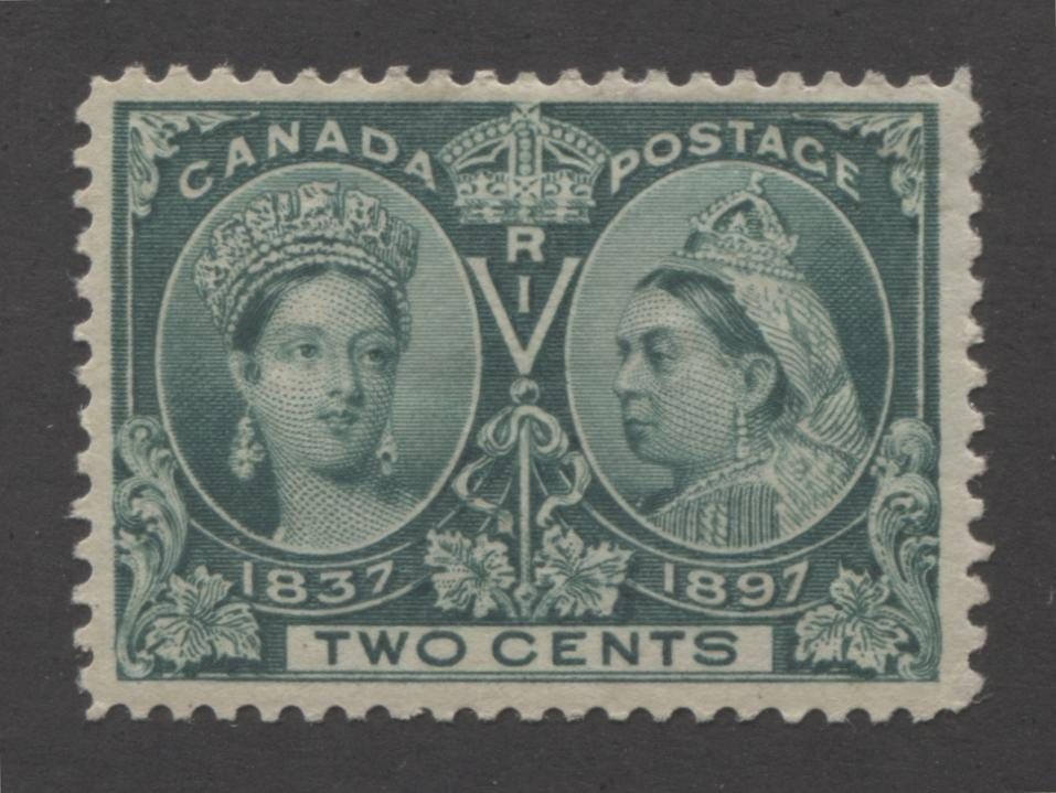 Canada #52i 2c Deep Green Queen Victoria, 1897 Diamond Jubilee Issue, A Very Fine OG Example Brixton Chrome