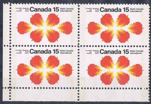 Canada 541p (SG#684p) 15c Radio Canada International Issue Winnipeg Tagged HB Paper LL Corner Block VF-80 NH Brixton Chrome