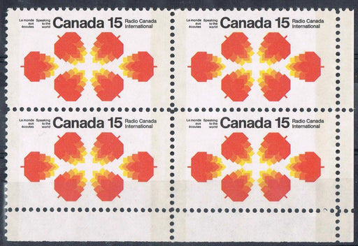 Canada 541p (SG#684p) 15c Radio Canada International Issue Winnipeg Tagged HB Paper LR Corner Block VF-75 NH Brixton Chrome