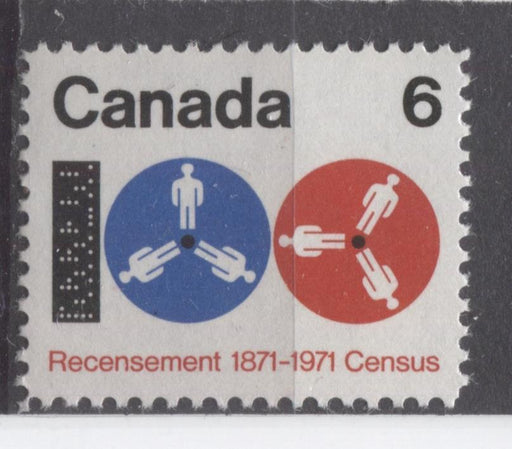 Canada #542 (SG#683) 6c Black, Ultramarine and Red 1971 Centenary of the Census Issue HF Paper VF-84 NH Brixton Chrome