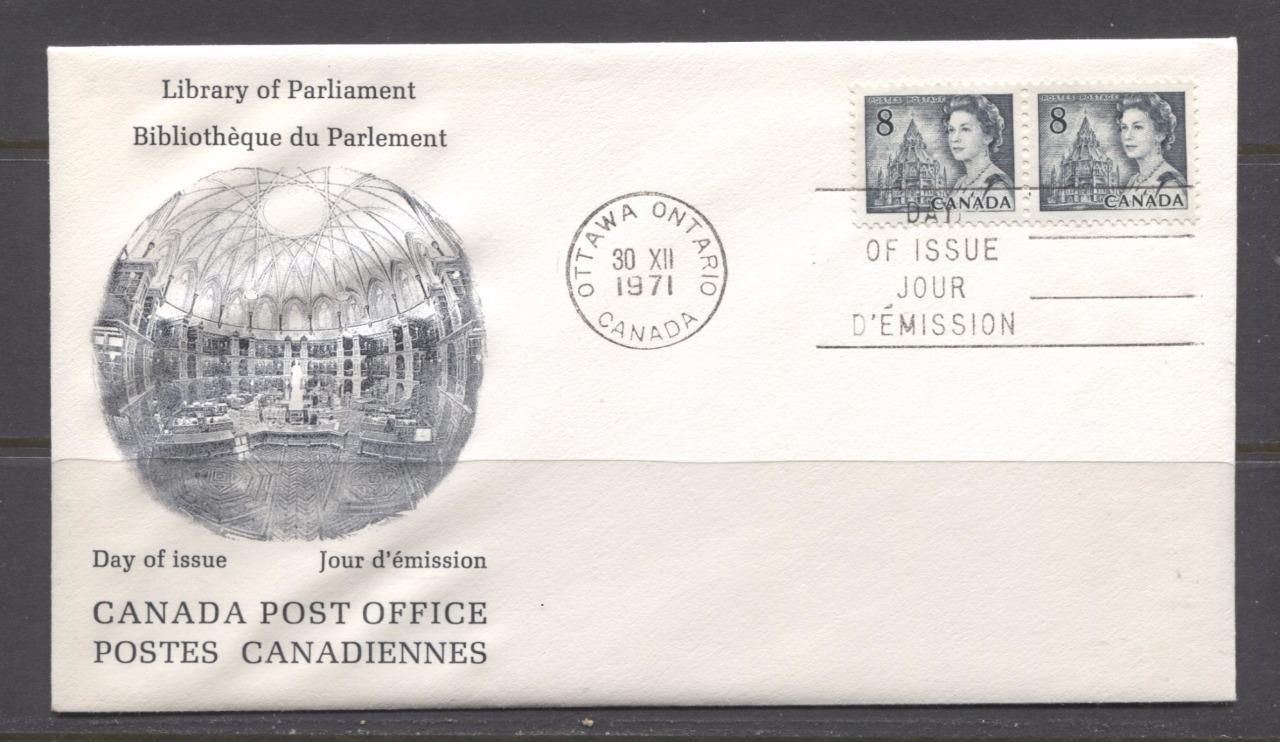 Canada #544 (SG#610) 1971 8c Slate Centennial Issue Rose CPC First Day Cover SUP-98 Brixton Chrome