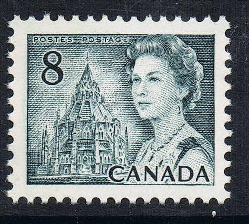 Canada #544piii (SG#610pfa) 8c Slate 1967-1973 Centennial Issue HF Paper PVA Gum Winnipeg 1 Bar Tag Error VF 80 NH Brixton Chrome