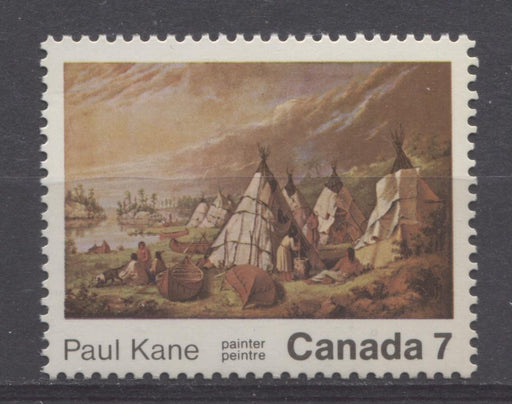 Canada #553 (SG#686) 7c Multicoloured 1971 Paul Kane Death Centenary Issue HB/DF Paper VF-75/80 NH Brixton Chrome