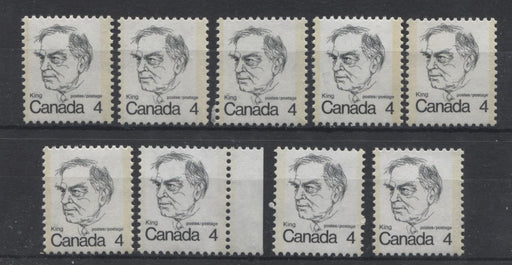 Canada #589 (SG#696) 4c Black King 1972-1978 Caricature Issue LF Paper 9 Different Types F-70 NH Brixton Chrome