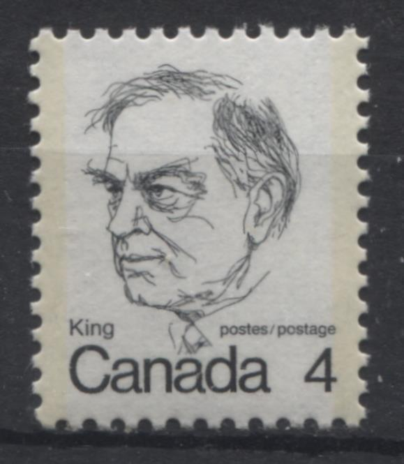 Canada #589 (SG#696) 4c Black King 1972-1978 Caricature Issue LF Paper Type 13 VF-84 Brixton Chrome