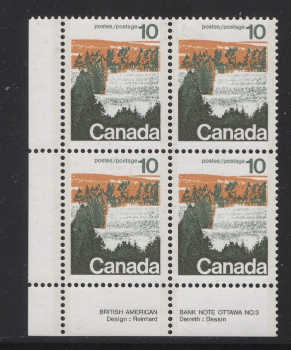 Canada #594aii (SG#702b) 10c Forest 1972-1978 Caricature Issue Type 2, Perf. 13.3, GT-2 OP-2 Paper Type 2 Plate 3 LL VF-75 NH Brixton Chrome