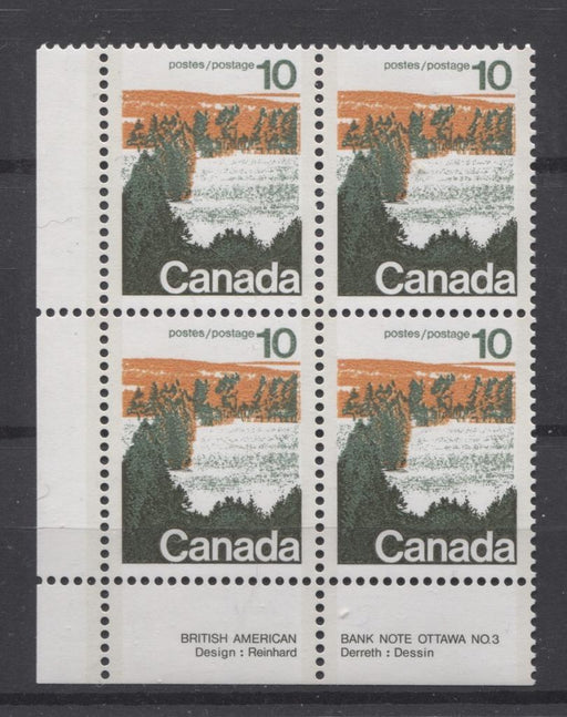 Canada #594aii (SG#702b) 10c Forest 1972-1978 Caricature Issue Type 2, Perf. 13.3, GT-2 OP-2 Paper Type 2 Plate 3 LL VF-80 NH Brixton Chrome