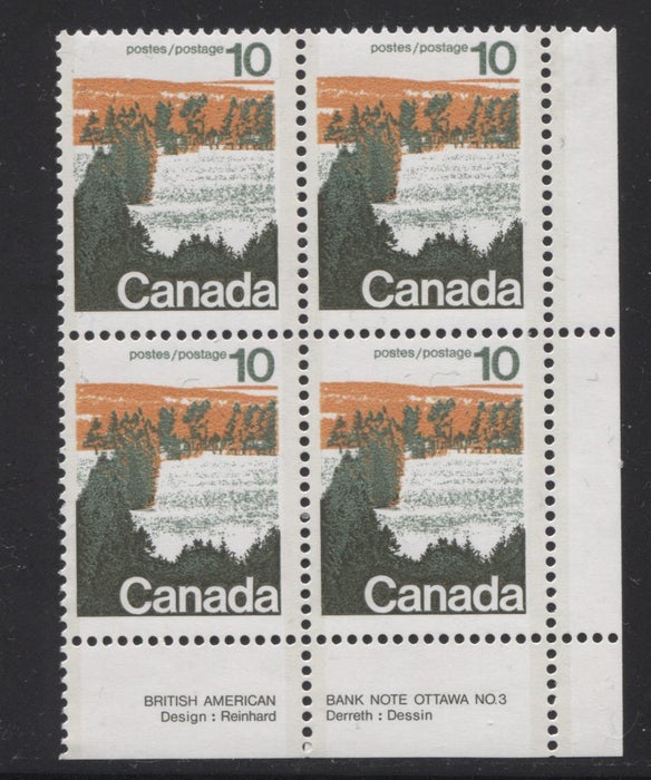 Canada #594aii (SG#702b) 10c Forest 1972-1978 Caricature Issue Type 2, Perf. 13.3, GT-2 OP-2 Paper Type 2 Plate 3 LR F-70 NH Brixton Chrome