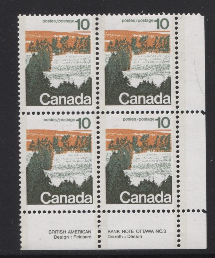 Canada #594aii (SG#702b) 10c Forest 1972-1978 Caricature Issue Type 2, Perf. 13.3, GT-2 OP-2 Paper Type 2 Plate 3 LR VF-75 NH Brixton Chrome
