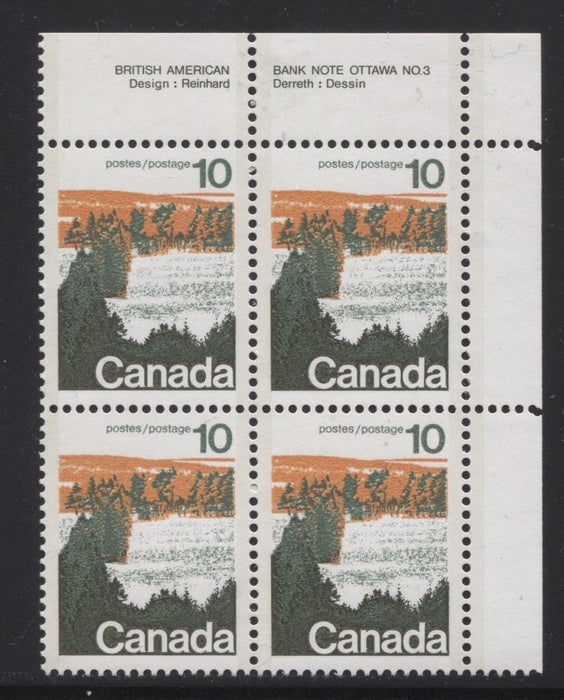 Canada #594aii (SG#702b) 10c Forest 1972-1978 Caricature Issue Type 2, Perf. 13.3, GT-2 OP-2 Paper Type 2 Plate 3 UR VF-84 NH Brixton Chrome