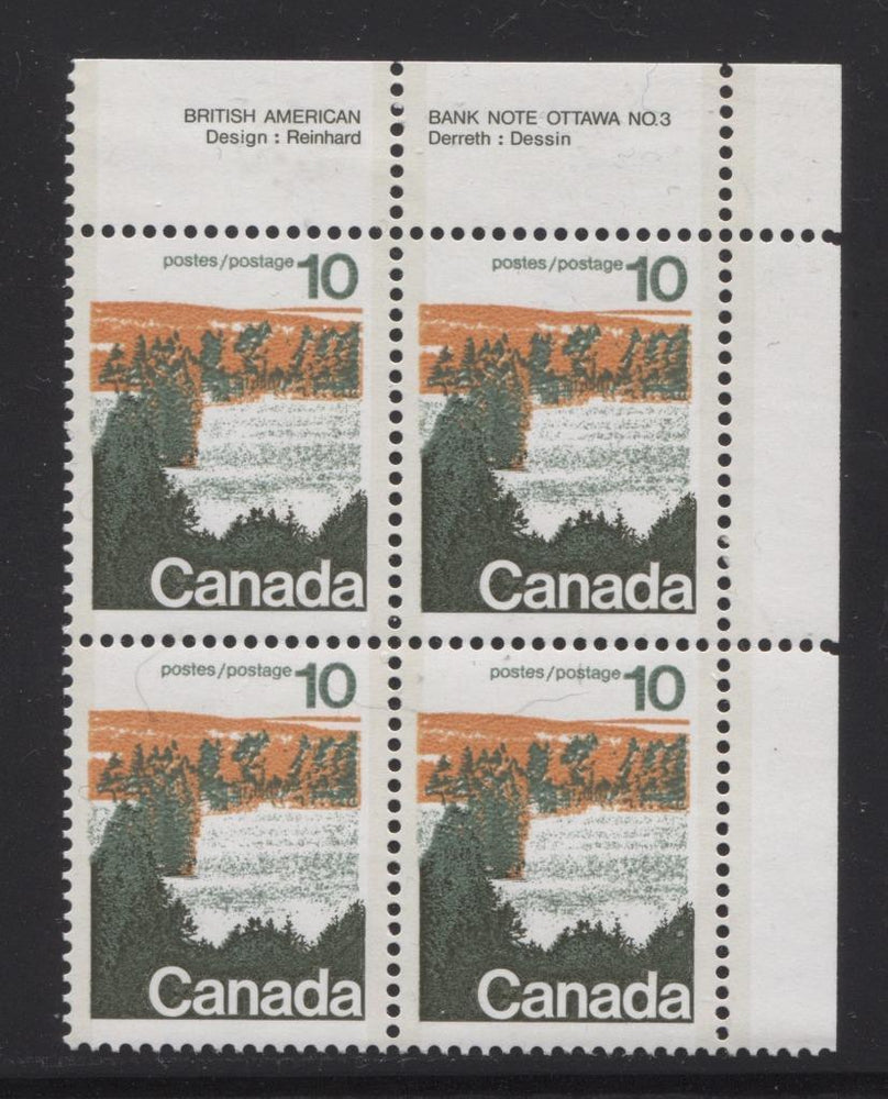 Canada #594aii (SG#702b) 10c Forest 1972-1978 Caricature Issue Type 2, Perf. 13.3, GT-2 OP-2 Paper Type 5 Plate 3 UR VF-80 NH Brixton Chrome