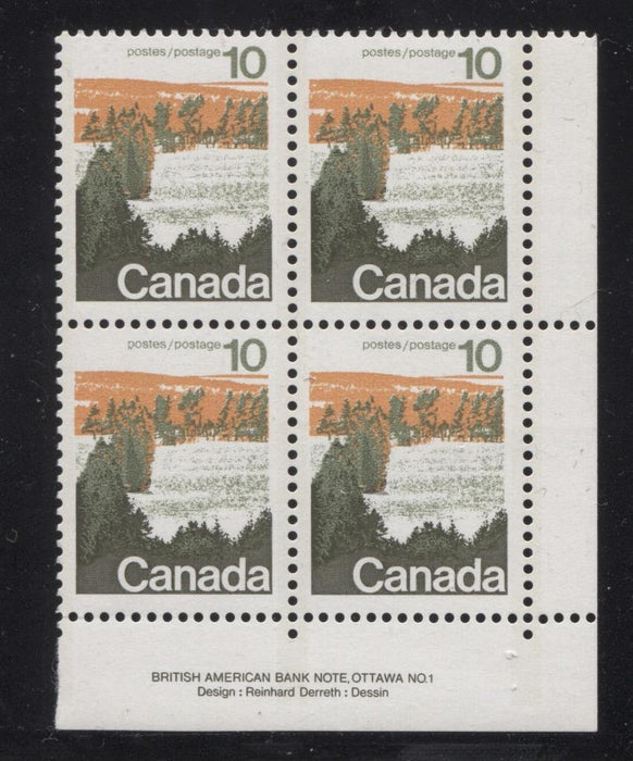 Canada #594i (SG#702) 10c Forest 1972-1978 Caricature Issue Type 1, 3 mm OP-2 Tag, Paper Type 1 Plate 1 LR VF-75 NH Brixton Chrome