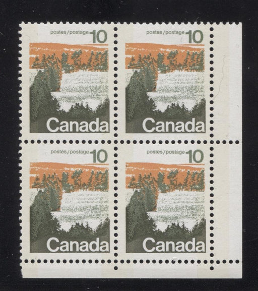 Canada #594iii (SG#702p) 10c Forest 1972-1978 Caricature Issue Type 1, W2B Tag, Paper Type 10 Blank LR VF-75 NH Brixton Chrome