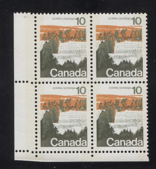 Canada #594iii (SG#702p) 10c Forest 1972-1978 Caricature Issue Type 1, W2B Tag, Paper Type 12 Blank LL VF-84 NH Brixton Chrome