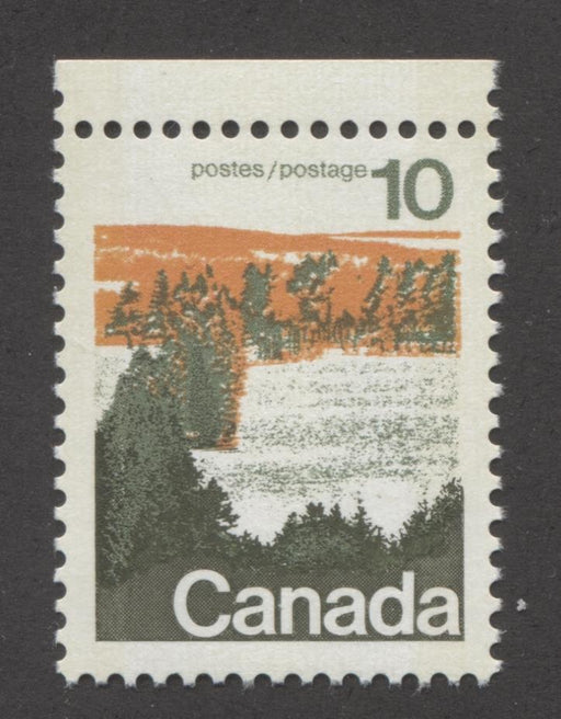 Canada #594iii (SG#702p) 10c Forest 1972-1978 Caricature Issue Type 1, W2B Tag, Paper Type 12 VF-80 NH Brixton Chrome