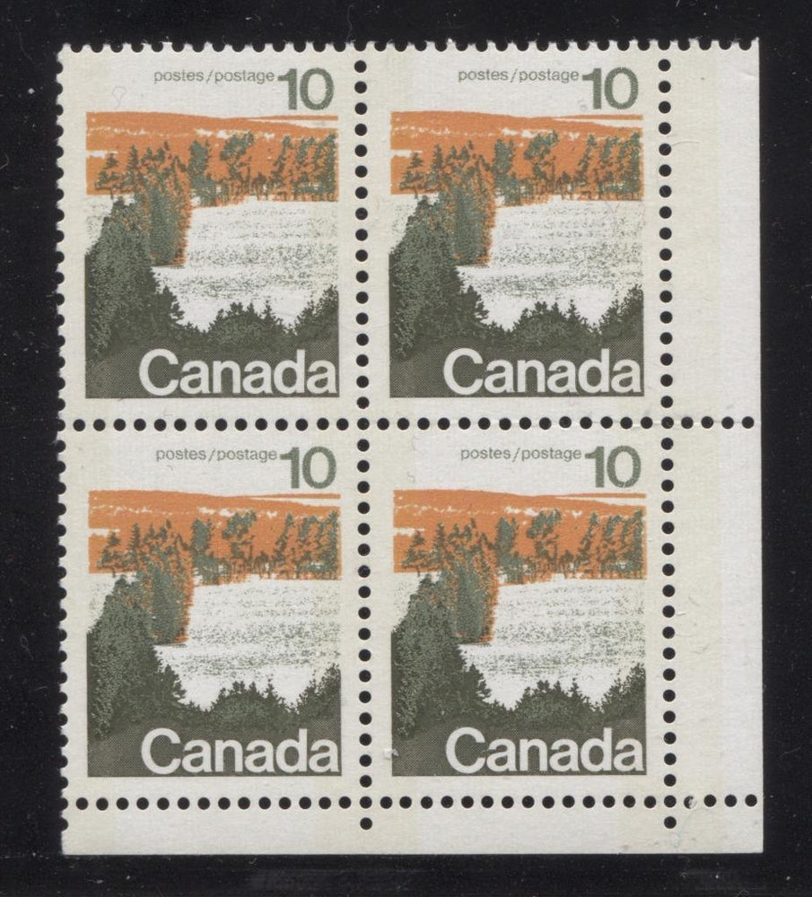 Canada #594iii (SG#702p) 10c Forest 1972-1978 Caricature Issue Type 1, W2B Tag, Paper Type 2 Blank LR VF-80 NH Brixton Chrome