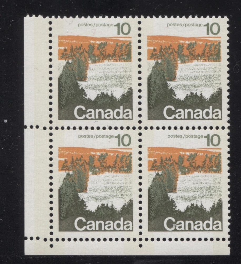 Canada #594iii (SG#702p) 10c Forest 1972-1978 Caricature Issue Type 1, W2B Tag, Paper Type 4 Blank LL VF-80 NH Brixton Chrome
